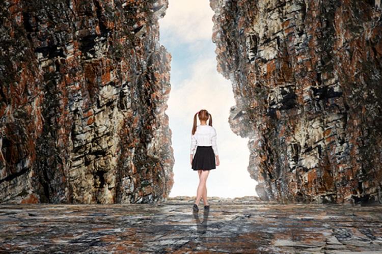 Girl Headed Into a Cave - © Dmitry Kotin