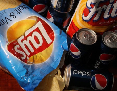 Lays Chips and Pepsi