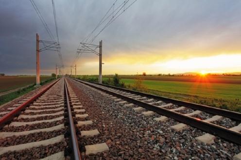 Railroad at Sunset and Dramatic Sky - © Tomas1111