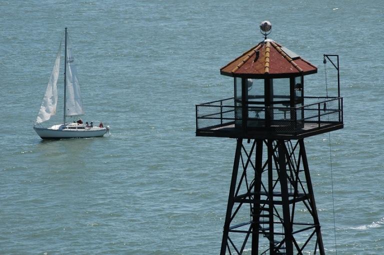 Sailboat and Tower in the Ocean - © Paul Hetrick.jpg