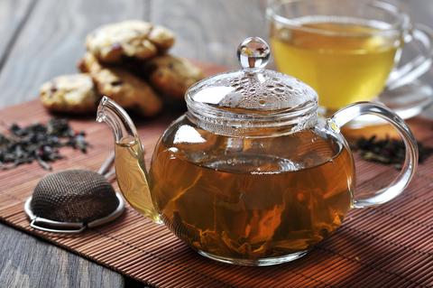 Green Tea with Cookies © Tashka2000