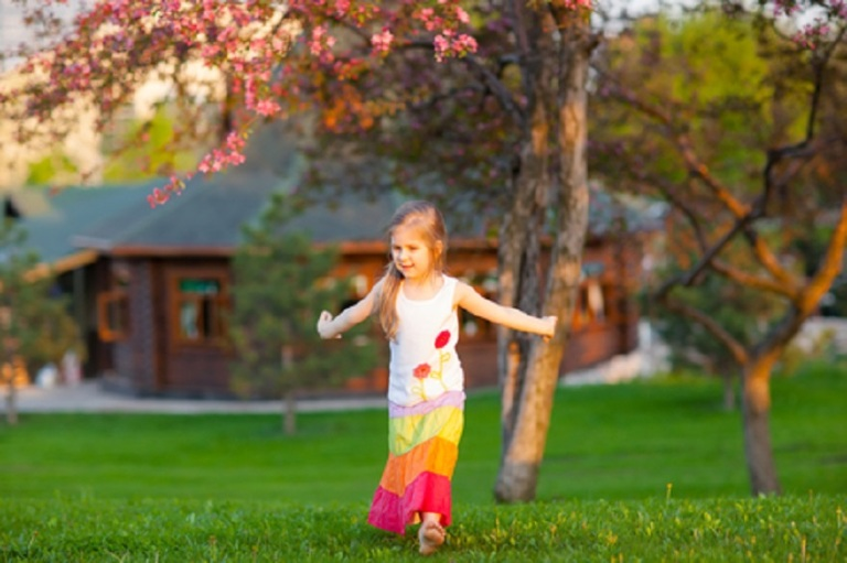 Little Girl Dancing In The Park © Witch999