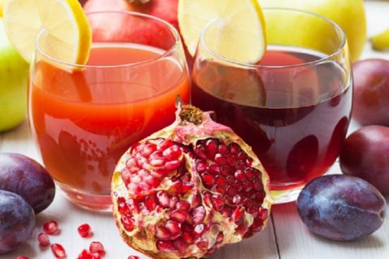 Pomengranates Drinks Juice and Plums © Milovan Radmanovac