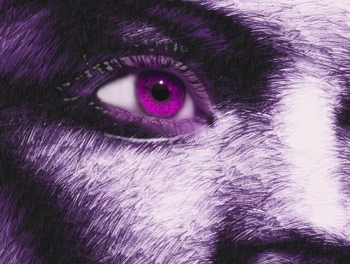 Woman Looking in Purple - Digital Art - © Socrates