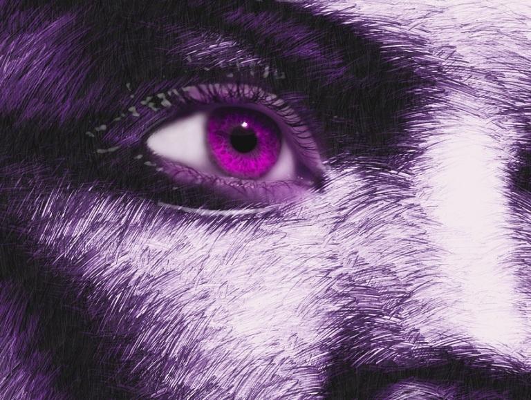 Woman Looking in Purple - Digital Art - © Socrates