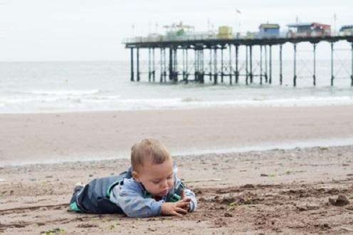 Child Playing on the Beach 2 Pavla Zakova