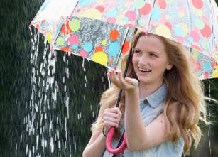 Girl With Umbrella In The Rain © Stockbrokerxtra
