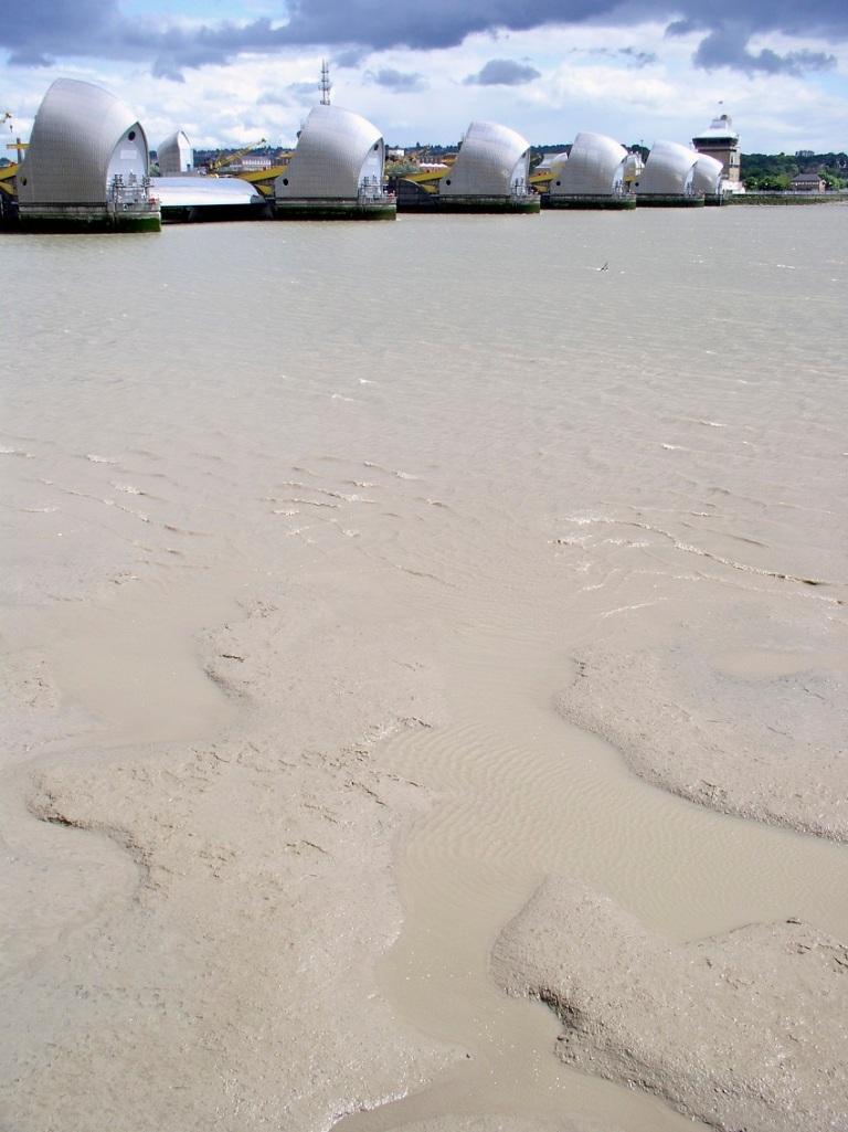 Mud Flats And Thames Barrier © Lance Bellers.jpg