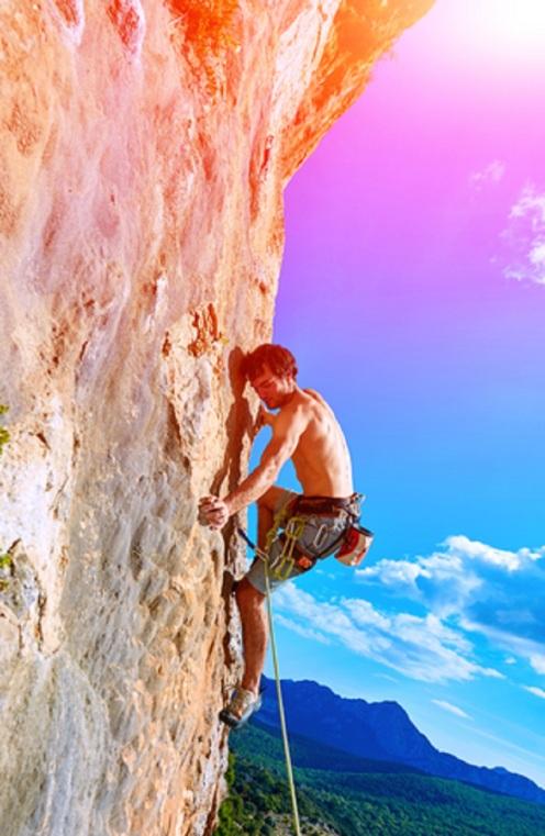 Rock Climber Climbing a Cliff © Vitaliy Mateha.jpg