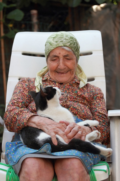 Senior Woman With Cat © Marcovarro.jpg